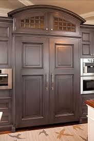 Hidden refrigerator-plus the cabinet color is beautiful!