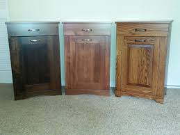 trash can furniture. picture of solid wood tilt out trash bin with drawer can furniture w