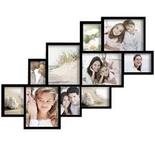 modern picture frames collage. Adeco Decorative Black Wood Wall Hanging Photo Frame Collage With 10 Clustered Openings Modern Picture Frames A