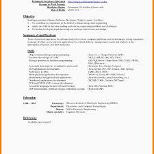 Current Resume Formats