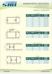Aluminium Door Section Weight Chart Aluminium Window Section View Specifications Details Of