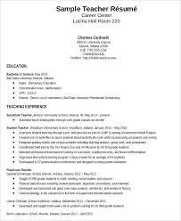 Teacher Resume Sample Cover Elementary School Teacher Resume Samples