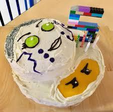 Let Me Knot - A Pixal and Zane Ninjago birthday cake.