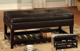 Black Leather Ottoman Coffee Table Throughout Ebay Coffee Tables ...