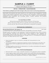 Retail Store Manager Resume Inspirational Retail Sales Manager