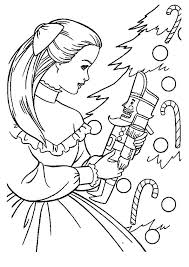 The Clara With Nutcracker Toy Christmas Christmas Coloring Pages