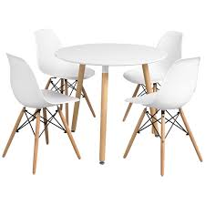 Ebay Kitchen Table And Chairs Details About Dining Table And Chair Set With 4 Eiffel Seats