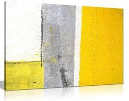 Image Yellow Purple Room Image Unavailable Amazoncom Amazoncom Office Decor Grey And Yellow Abstract Art Painting