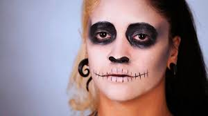 how to do cheeks sched lips for day of the dead makeup