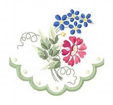 Gunold Machine Embroidery Designs Historical Machine Embroidery Design 1821 Scalloped Floral