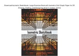 Download Isometric Sketchbook Large Exercise Book With