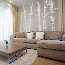 silver birch trees vinyl wall sticker on birch tree wall art canada with silver birch trees vinyl wall sticker by oakdene designs