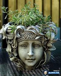 fresh head planter pot patio and home design idea picture 15 best clay image on