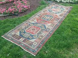 vintage turkish runner rug carpet floor hallway corridor runner 4 x 10 5 ft