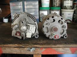 3g alternator upgrade 3g on the left 1g on the right