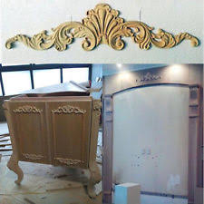 wood furniture appliques. Unpainted Wood Carved Corner Onlay Applique Furniture Home Decor Decal Flowery Appliques D