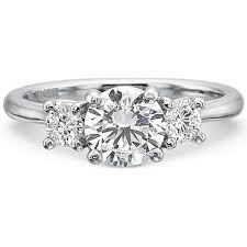 Precision Set Three Stone Diamond Engagement Ring Setting H L
