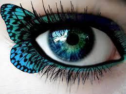 Eye makeup ...