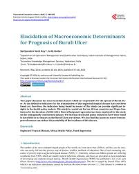 Elucidation of Macroeconomic Determinants for Prognosis of Buruli Ulcer