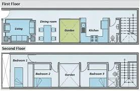 best collection long narrow house floor plans lot plan homes houses 2 story home