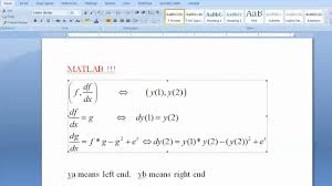 easy and best way to solve nar diffeial equation with solve system of equations matlab fsolve tessshlo