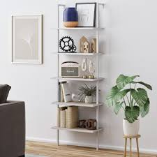 White modern bookshelf Amazon Theo Ladder Bookcase Umnmodelun Modern Contemporary Modern White Bookshelf Allmodern