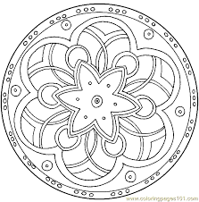 Small Picture Mandala Coloring Page 07 Coloring Page Free Miscellaneous
