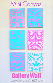create a fun mini canvas gallery wall all by using the same stencil but using different on diy stencil canvas wall art with mini canvas gallery wall delicious and diy