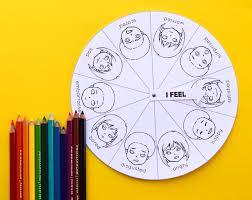 Free Printable Mood Emotion Wheel Chart For Children