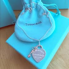 tiffany and co heart tag and key pendant luxury accessories on carou