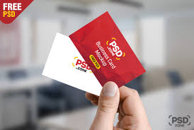 Hand Holding Business Card Mockup Free Psd Psd Zone