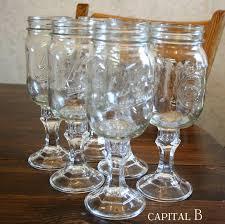 Mason Jar Wine Glasses Tutorial