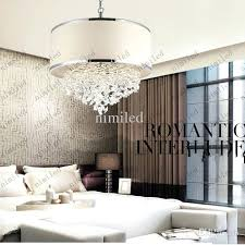 modern trendy white lampshade chandelier crystal lamp bedroom light attentive after s real floor glass from