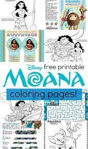 Disneys Moana Coloring Pages And Activity Sheets Printables