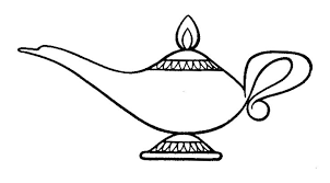 lamp clipart black and white. lamp aladdin clipart and stock black white