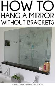 bathroom mirror mounting brackets. How To Hang A Bathroom Mirror Without Brackets Mounting C