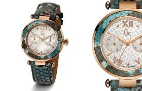 gc watches jeweller magazine jewellery news and trends the gc ladychic turquoise python watch by gc watches
