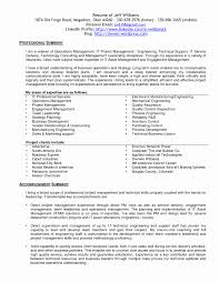 Sample Resume For Project Manager In Manufacturing Sample Resume for Project Management Fresh Project Manager 53
