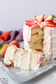 Strawberry Shortcake Cake Recipe Butter With A Side Of Bread