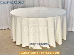 ivory tablecloth for 60 round table
