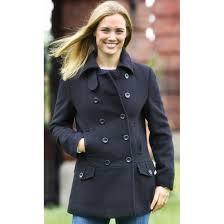 women s alpha pea coat black