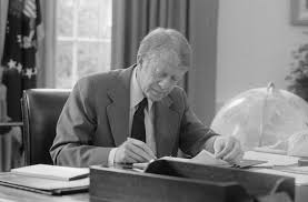 jimmy carter oval office. Jimmy Carter At Work In The Oval Office T