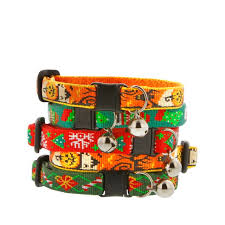 lupine holiday safety collar with bell for cats in santa s treats