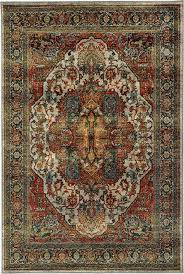 oriental weavers sedona 6382b red 7 10 x