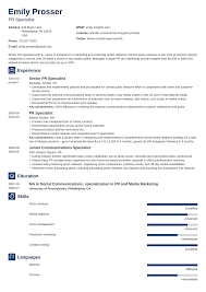 sample public relations resume public relations resume sample complete guide 20 examples