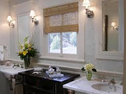proper bathroom lighting. Bathroom Decor: Ceiling Mounted Light Fixtures For Proper Illumination Bamboo Roman Blind And Elegant Lighting L