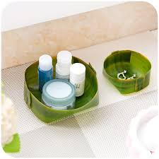 banana leaf design home storage trays cosmetic desk pen box kitchen office bathroom makeup organizer conner pencil cabinet in storage bo bins from