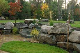 dry stacked stone walls landscaping