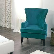 blue velvet accent chair. Blue Velvet Accent Chair Slipper Armchair Gray Decorative Brown V