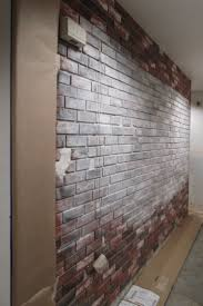 Faux Exposed Brick 10 Best Top Diy Brick Walls Images On Pinterest Craft Corner